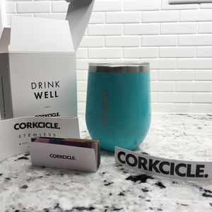 NWT Corkcicle Stemless Coffee Wine Tumbler